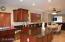 Huge kitchen island, beautiful granite countertops