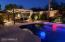 Pergola and Pool at Night