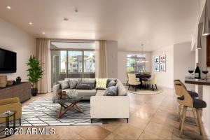 HUGE open living, dining, kitchen & entertaining bar area.