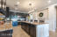 Entertainers dream kitchen with a huge 9' island.
