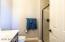 Casita features walk-in shower.