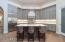 Designer inspired cabinetry and backsplash.