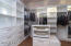 Generous closet space with custom built-ins