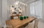 Trendy new lighting and fresh paint make this room ready for entertaining.