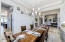 This dining room has a gorgeous chandelier....did you see it?