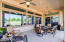 This large patio is perfect for outside entertaining. Even if you are outside, you are going to hear the doorbell. This owner installed 5 doorbells throughout the property, so you will know if someone has arrived at the front door and is ringing the bell to join the party!