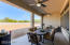 This patio overlooks the backyard....your soon to be oasis. These ceilings are insulated too. The fans will not be blowing down that hot air from the ceiling and creating an convection oven effect!
