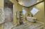 Master bathroom w/rain shower head and steam!