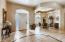 Foyer entry - Palatial vaulted ceilings, skylights, oversized windows, ceiling fans