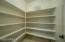 Huge walk in pantry.