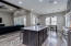 Quartz counters with custom touches on the island