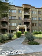 Toscana two bedroom + den. Building 14 on N  quiet end of the complex just S of Marriott's Wildfire golf course. TWO reserved, adjacent underground parking spaces near the elevator. Newly-replaced A/C. Kitchen has GAS oven, granite counters, breakfast bar open to great room. Honeycomb window shades, powerful ceiling fans. Oversized great room, GAS fireplace. Private deck. Spacious master. Walk-in custom-designed CA Closets. Master bath has soaking tub, sep shower, dbl sinks. Second bedroom split from master. Den has built-in desk. Washer/dryer included. Community building has fitness center with popular work-out equipment, showers & lockers. Massive pool has lounging, outdoor seating, BBQs. Community center has billiards, ping pong, party kitchen, library,concierge. Even food trucks stop Right across the street to the south are Desert Ridge Shopping Center and High Street, known for its entertainment, dining and nightlife. All of your shopping, dining, entertainment and a comedy club are within minutes of Toscana. To the north a few blocks is the world renown, luxurious JW Marriott hotel. Toscana has live 24 hr security guard gate for your peace-of-mind. The 101 Freeway will take you everywhere you need to be.