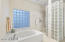 Master Bath Glass Shower and Spa Tub