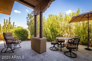views to the mountains from this spacious back patio