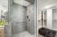 Floor to Ceiling tiled walk in shower.