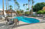 Resort like pool and spa in the heart of the complex