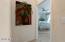 Master bedroom hall with art niche