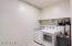 Oversize laundry room.