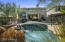 This private cover lot features a built in BBQ, gas fire pit and pool!
