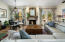 One Of A Kind Great Room With Reclaimed Wood Fireplace Mantel