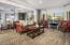 Formal Dining & Living Area With Mountain Views & White Oak Hardwood Flooring