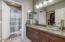Master bath has double sink vanity