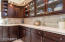 Kraft Maid Cabernet Cherry cabinets on upper & lower cabinets w/ Baldwin nickel hardware