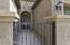Gated courtyard to entry