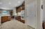 Kitchen overlooks the great room