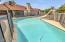 Refreshing pool w/slide
