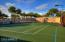 Residents enjoy the private lit tennis/pickleball court with sign ups for round robins or private matches.