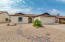 Front of home- Easy care desert landscaping.
