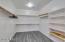 Very spacious master closet