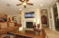 Open great room with fire place
