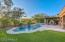 Beautiful backyard with large pool and spa
