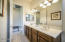 Compartmentalized Full Hall Bath with double vanity