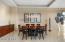 Formal Dining Room with Studio Becker Cabinetry.
