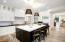 Handmade tile backsplash and under cabinet lighting