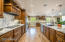 Kitchen with custom cabinets and beautiful granite