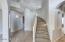 Spacious interior entry