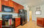 Built in Microwave in the Kitchen. Marvelous and Ample Cabinetry.
