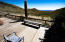 Front patio of the home overlooking the South part of the property with amazing views toward Wickenburg/