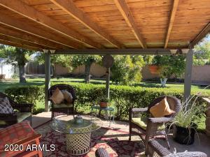 Beautiful extended backyard patio