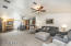 Large great room with vaulted ceilings