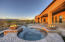 Fire Pots Accent the Spa