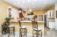 KITCHEN WITH OFF WHITE CABINETS & GRANITE