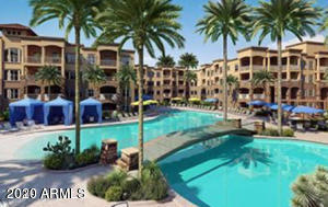 Move in ready 1 bedroom 1 bathroom, Views of the Wildfire Gold Course off your private balcony. This home has lots of upgrades! Stylish condo with Tile in all the right spots, Open concept kitchen with plenty of cabinet space, breakfast bar and all black appliances. The community offers 24 hours security in this gated community, resort style living with community pools, state of the art gym. This home is a must see today! Make a appt and show!
