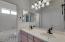Dual Sinks, separate toilet/shower room