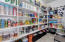 Oversized walk-in pantry