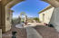 Front courtyard; door on right leads to casita